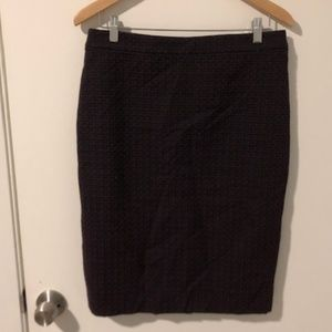 Ann Taylor NWT Navy and Red Tweed Pencil Skirt